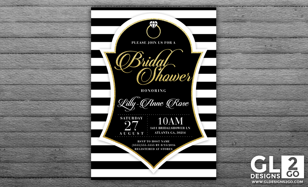 Tag Archive for black and white bridal shower GLDesigns 2 Go – Black and White Wedding Shower Invitations