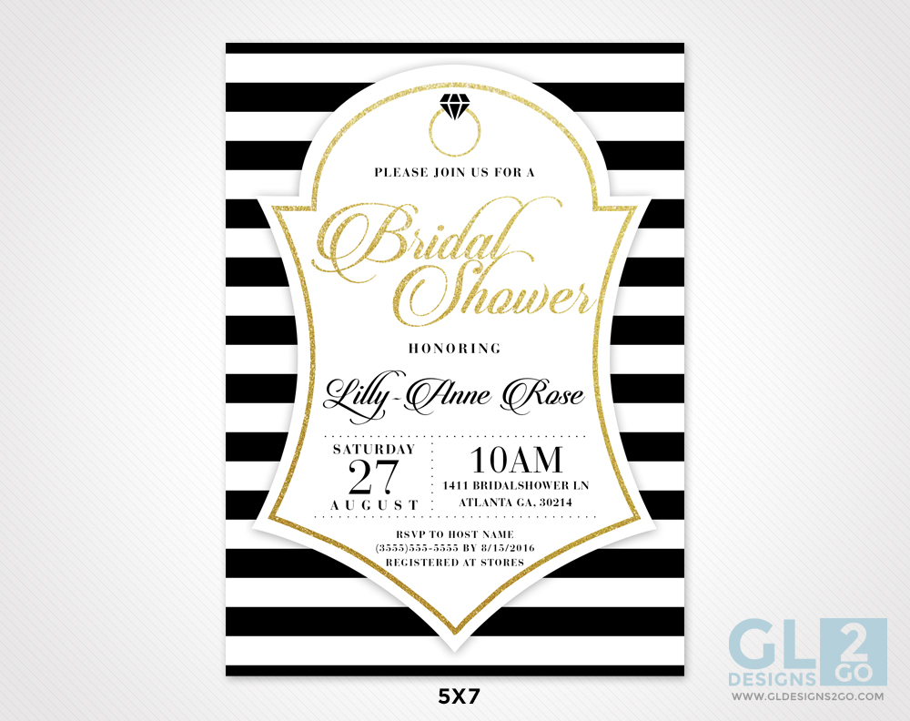 White black gold bridal shower invitation gldesigns 2 go purchase our white black gold bridal shower invitation on etsy filmwisefo
