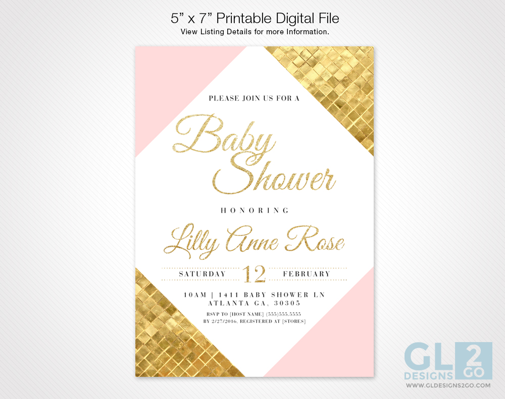 Baby Shower Archive - GLDesigns 2 Go